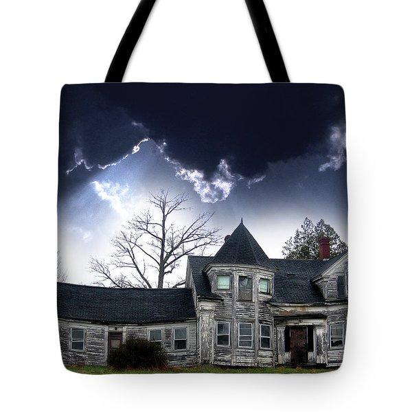 Haloween House Tote Bag by Skip Willits