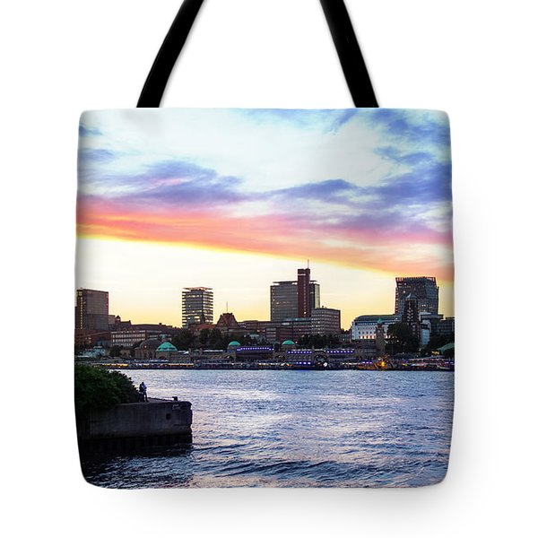 Hamburg Riverside Tote Bag