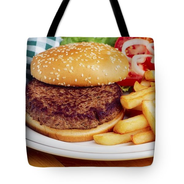 Hamburger & French Fries Tote Bag by The Irish Image Collection