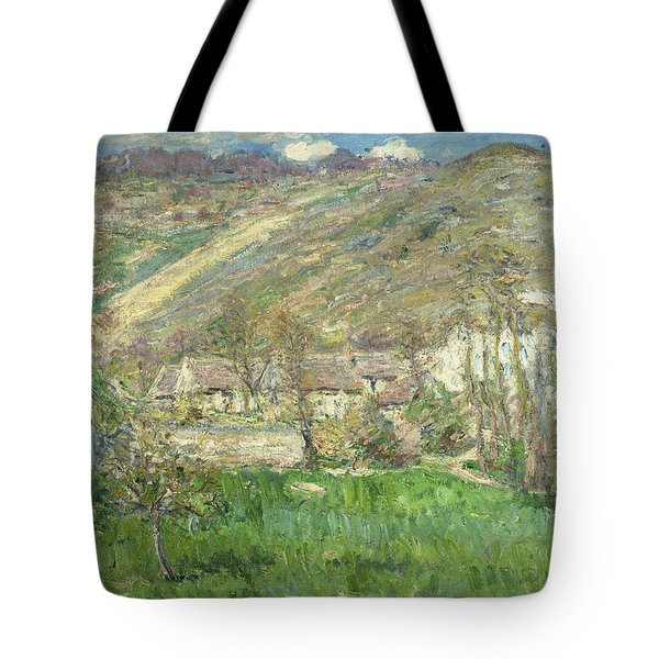 Hamlet In The Cliffs Near Giverny Tote Bag by Claude Monet