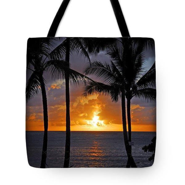 Hammock Sunset Tote Bag by Lynn Bauer