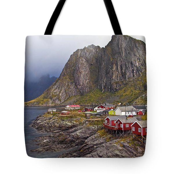Hamnoy Rorbu Village Tote Bag