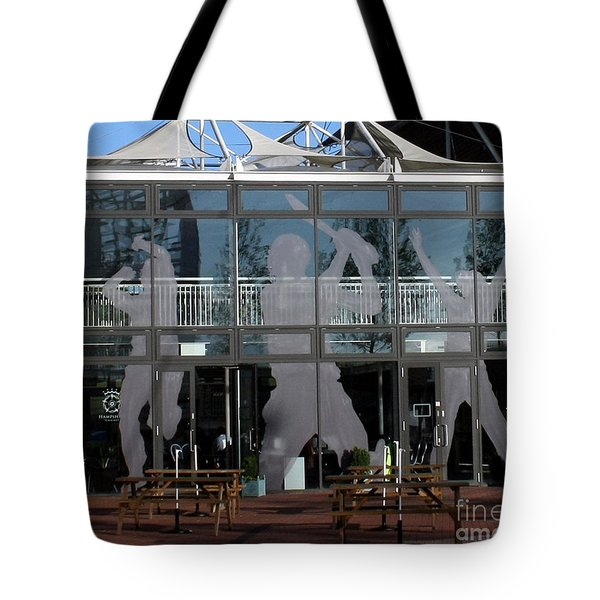 Hampshire County Cricket Glass Pavilion Tote Bag by Terri Waters