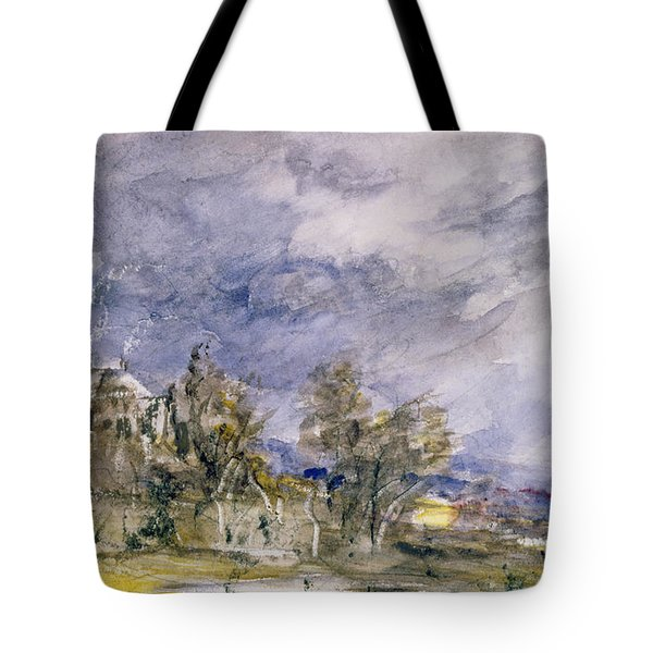 Hampstead Heath From Near Well Walk Tote Bag by John Constable