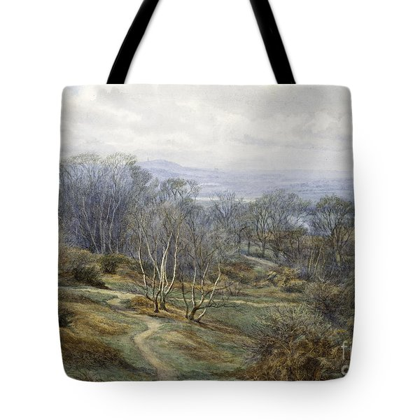 Hampstead Heath Looking Towards Harrow On The Hill Tote Bag by Edith Martineau