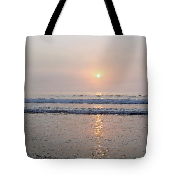 Hampton Beach Waves And Sunrise Tote Bag by Eunice Miller
