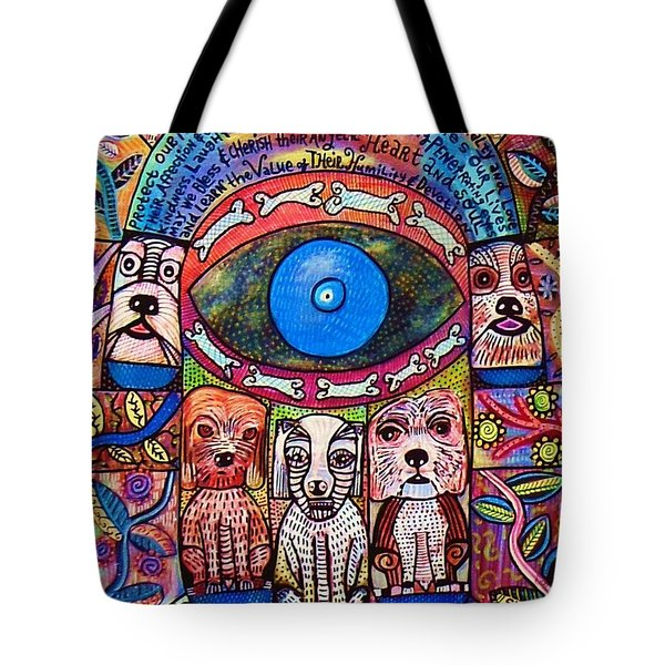 Hamsa Dog Blessing' Tote Bag