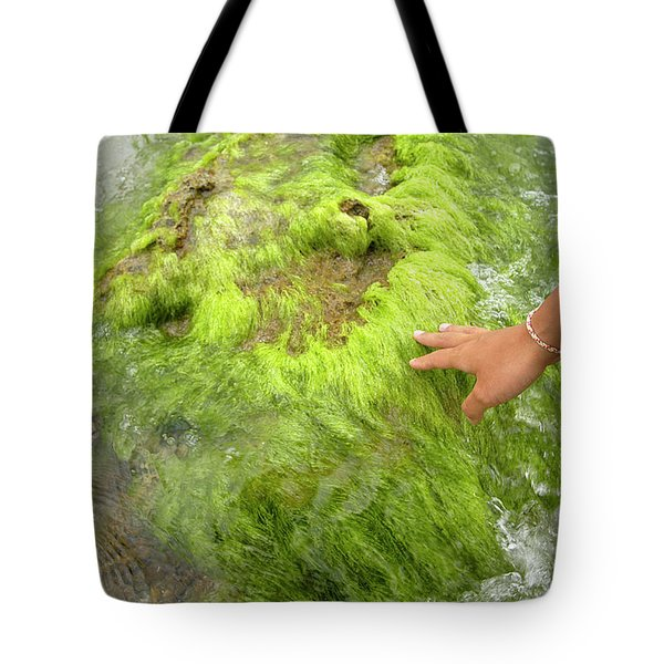 Han Of A Young Woman Touching A Rock Tote Bag
