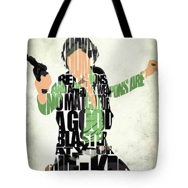 Han Solo From Star Wars Tote Bag by Ayse Deniz
