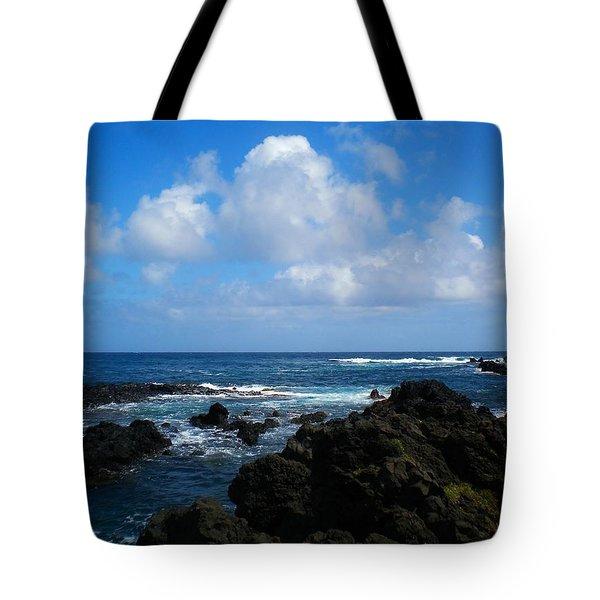Hana Bay Clouds Tote Bag