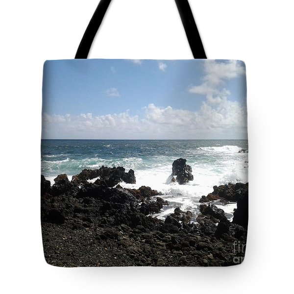 Tote Bag featuring the photograph Hana Surf by Fred Wilson
