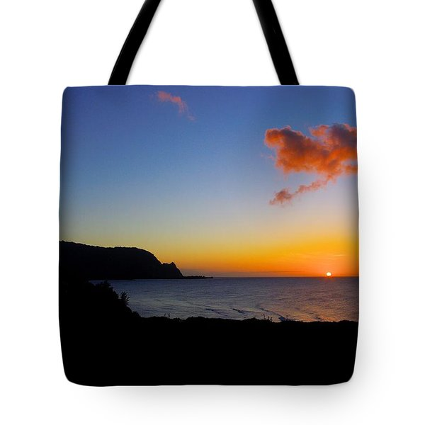 Hanalei Bay Sunset Tote Bag by John  Greaves