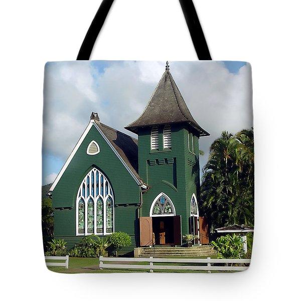 Hanalei Church Tote Bag by John Bushnell