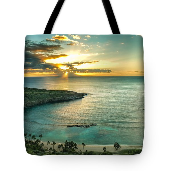 Hanauma Bay 1 Tote Bag by Leigh Anne Meeks