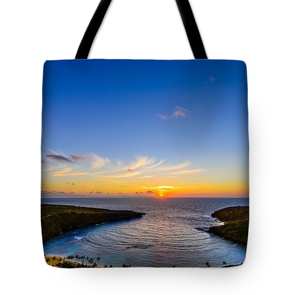Hanauma Bay Sunrise Tote Bag