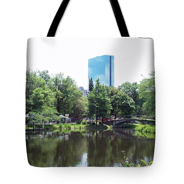 Hancock Building From Lagoon Tote Bag
