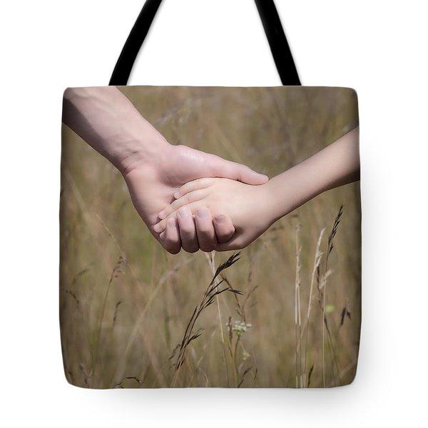 Hand In Hand Tote Bag by Joana Kruse