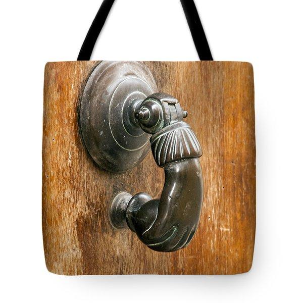 Hand Knocker Tote Bag by Bob Phillips