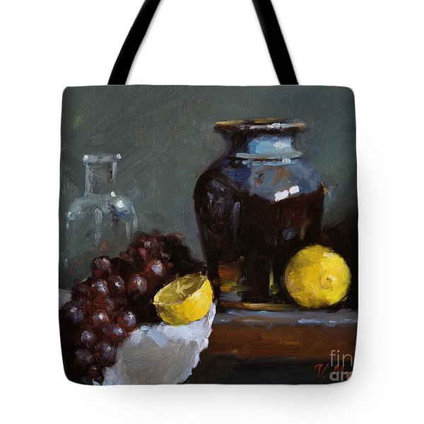 Hand-made Pottery With Fruits Tote Bag