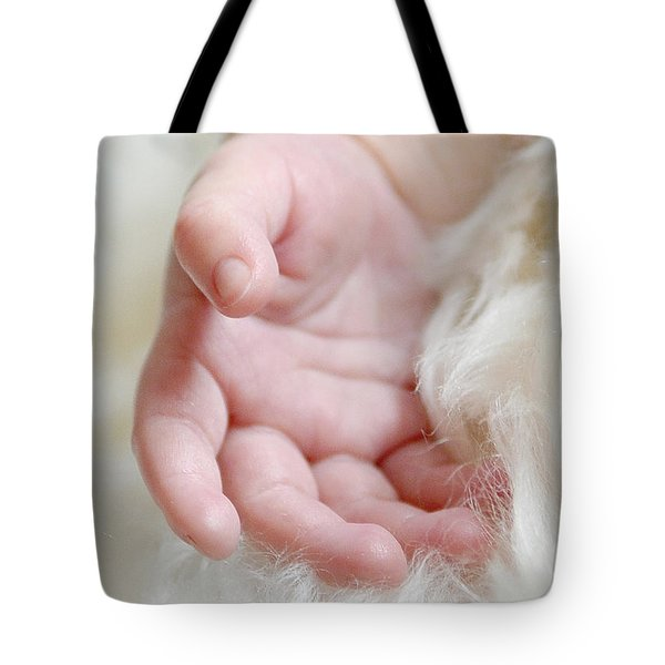 Hand Of An Angel Tote Bag by Lisa Phillips