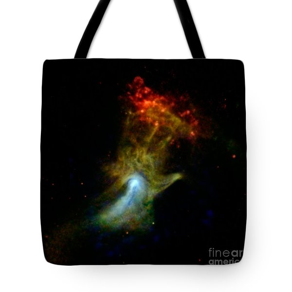 Hand Of God Pulsar Wind Nebula Tote Bag by Science Source