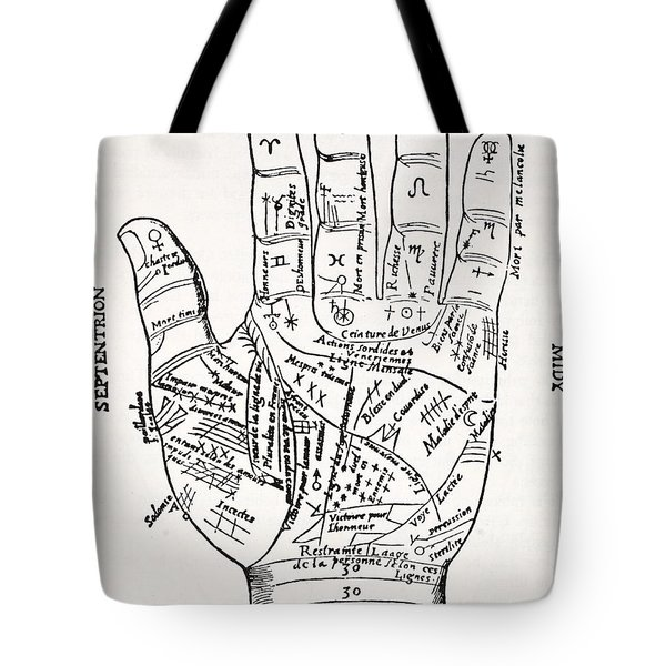 Hand With Symbols, Septentrion, Oriens Tote Bag