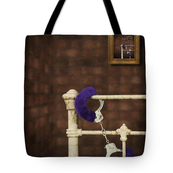 Handcuffs Tote Bag by Amanda Elwell