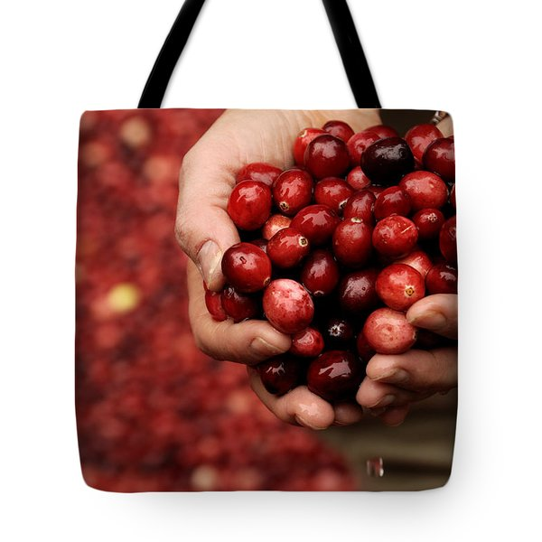 Handful Of Fresh Cranberries Tote Bag