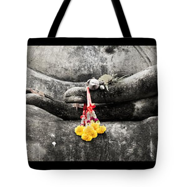 Hands Of Buddha Tote Bag by Adrian Evans