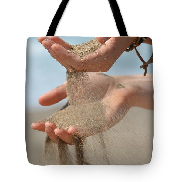 Hands Of Sands Tote Bag