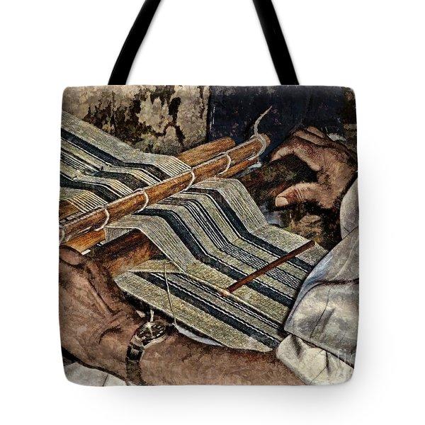 Hands Of The Weaver Tote Bag by Julia Springer