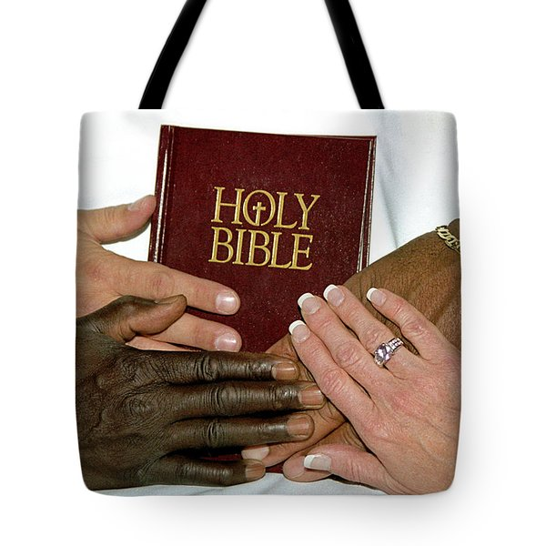 Hands On Bible Tote Bag