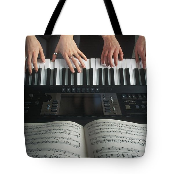 Hands On Keyboard Tote Bag by Kelly Redinger