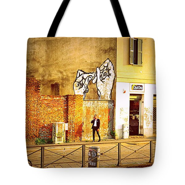 Hands On Me Tote Bag by Valentino Visentini