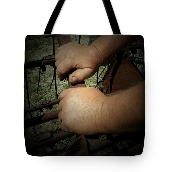 Hands That Feed The World Tote Bag by Cynthia Lassiter