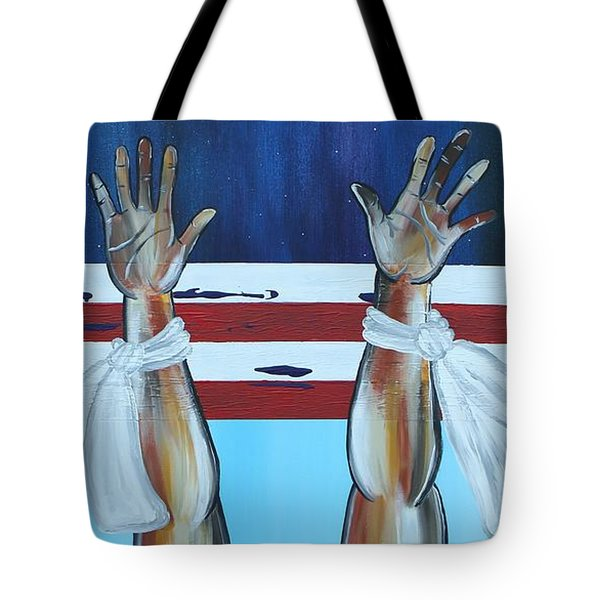 Hands Up Dont Shoot Tote Bag