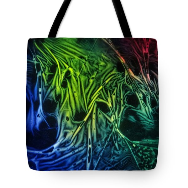 chemiluminescence photography Handprint Tote Bag