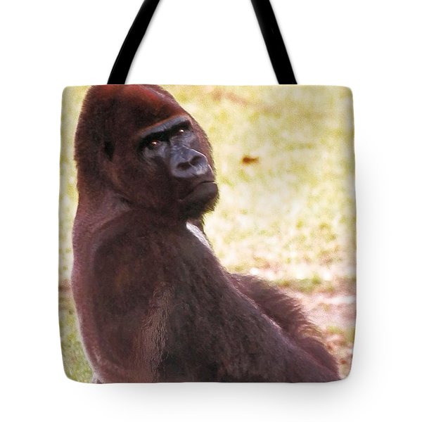 Tote Bag featuring the photograph Handsome Gorilla by Belinda Lee