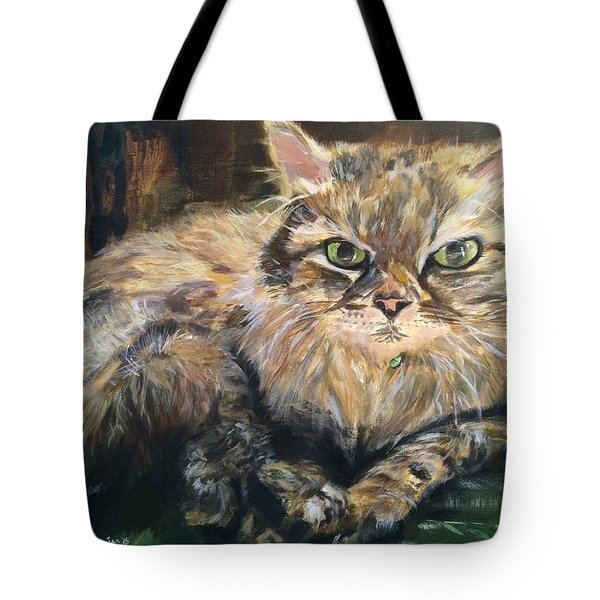 Tote Bag featuring the painting Handsome Toby by Belinda Low