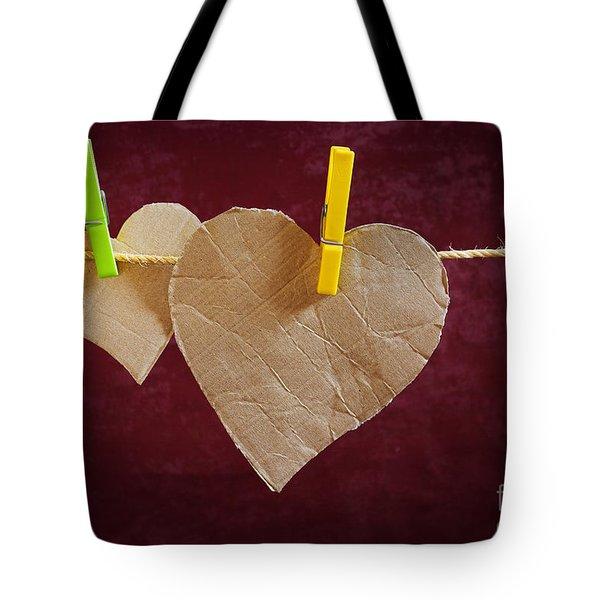 Hanged Heart Tote Bag by Carlos Caetano
