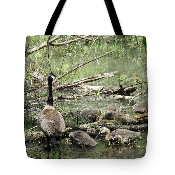 Hangin Out With Mom Tote Bag by Sara  Raber