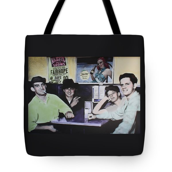Hanging At The Diner 1949 Tote Bag