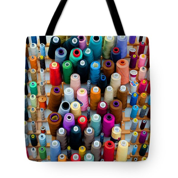Hanging By Many Threads Tote Bag by Paulette B Wright