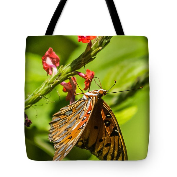 Hanging Off The Side Tote Bag by Jane Luxton