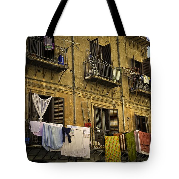 Hanging Out To Dry In Palermo  Tote Bag by Madeline Ellis