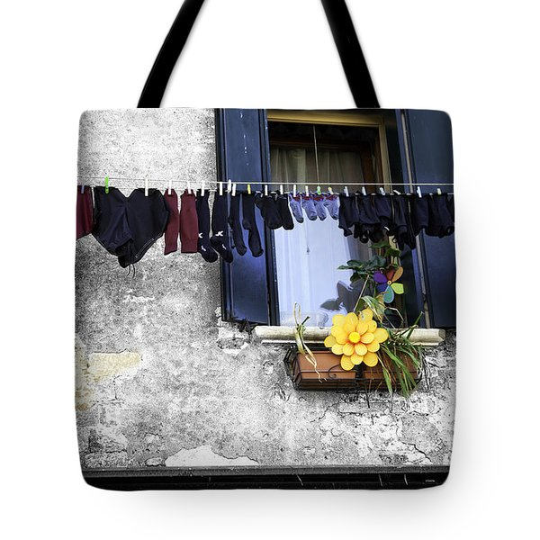 Hanging Out To Dry In Venice 2 Tote Bag by Madeline Ellis