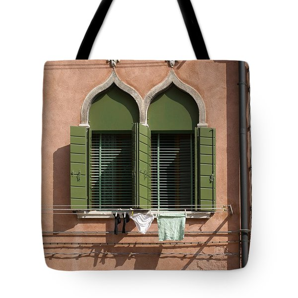 Hanging Out To Dry Tote Bag by Ron Harpham