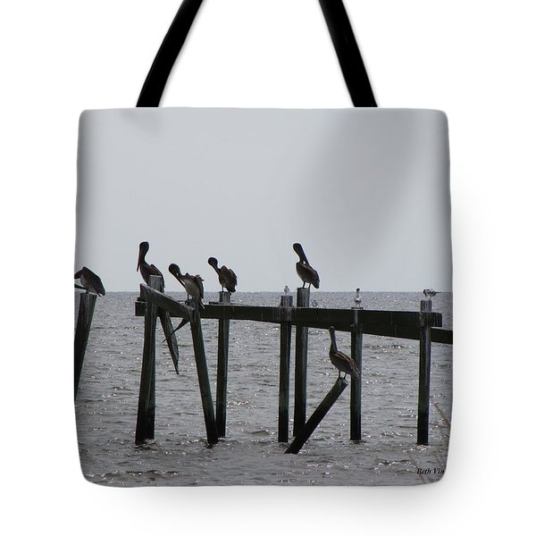 Tote Bag featuring the photograph Hanging Out With Friends by Beth Vincent