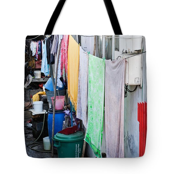 Hanging Towels Tote Bag by Tom Gowanlock