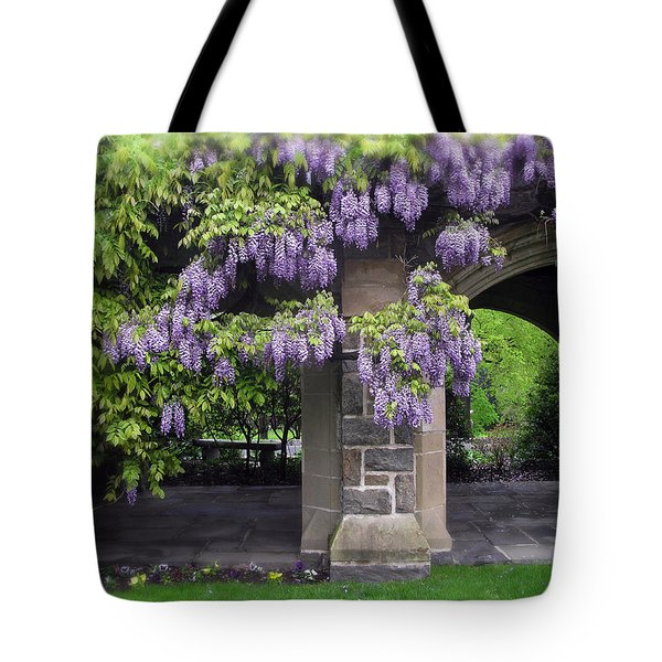 Hanging Wisteria Tote Bag